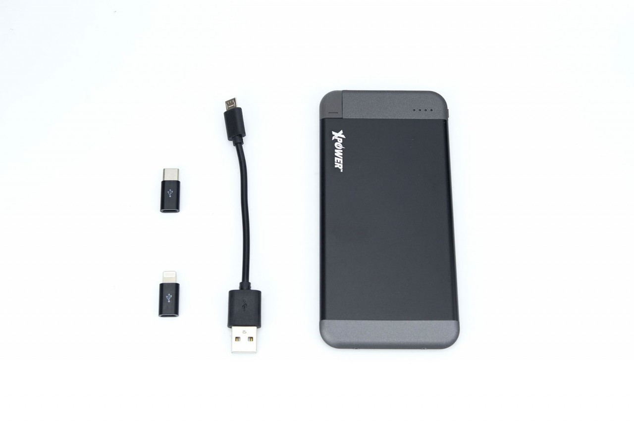 XPower PB4M 4100mAh Ultrathin Built-in Cable Power Bank