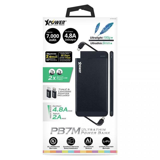 XPower PB7M 7000mAh Ultrathin Micro USB Power Bank