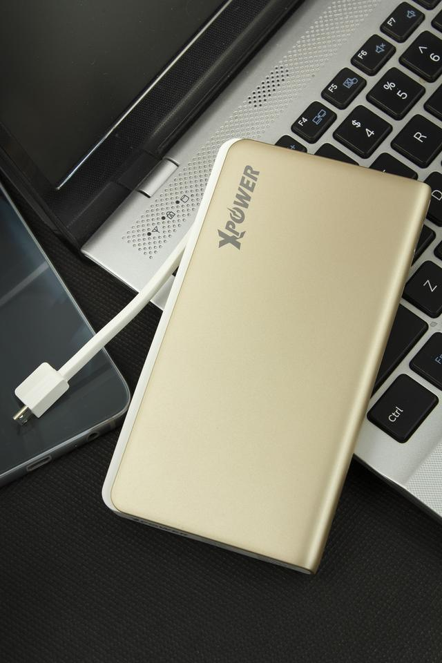 XPower PB8+ 8000mAh High Speed Power Bank with 2 Removable Cable