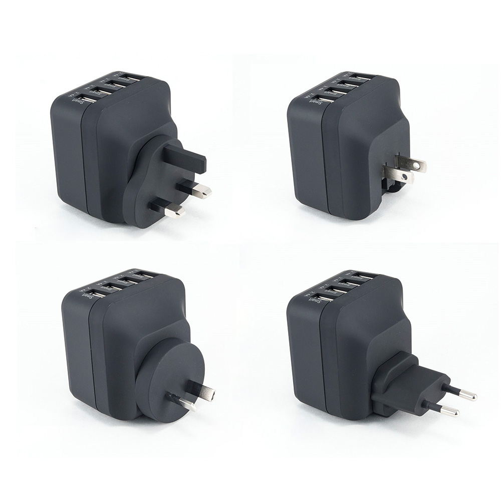 XPower X4WT 4 Port Travel Charger